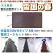 融雪マット 歩道用Bタイプ 2000×1000×20mm 電源コードセット [雪国の春]
