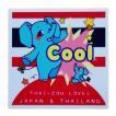 国旗 ステッカー タイぞう ラブ ジャパン & タイランド Cool(超いいね)/ t5 | タイ 国旗 ステッカー シール アジアン 雑貨