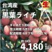 黒葉ライチ1kg 台湾産 期間限定 送料無料