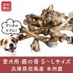 愛犬用鹿の骨 3本パック Mサイズ(長さ15〜22cm・小〜中型犬) 無添加 おいしい鹿肉付き! 兵庫県但馬産本州鹿