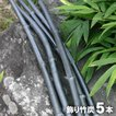 【日本唯一の虎斑竹100年計画】竹資源を無駄なく有効活用したいという思いから生まれました。 オブジェとして生まれかわった飾り竹炭(丸竹)5本