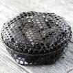 【国産・日本製】黒編み六ツ目竹炭かご(平)サイズ大(竹炭バラ800g入り)インテリアにも最適!お洒落な黒編み竹籠に消臭、調湿用竹炭たっぷり入れました