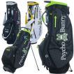 サイコバニー ゴルフ スタンドバッグ スタンド キャディバッグ メンズ レディース 9.0型 約2.6kg 5分割 軽量 ブランド レア ホワイト ネイビー ブラック PBMG1SC