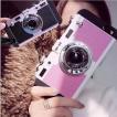 カメラ型 iphone7 ケース ストラップ 付き iphoneケース iphone7 スマホケース スマホカバー アイフォン かわいい ソフト