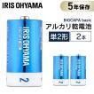 乾電池 単2 単二 電池 BIGCAPA basic 単2形 2本パック LR14Bb/2P アイリスオーヤマ 5年保証 アルカリ乾電池 ゲーム 2本 安い お得