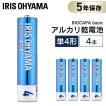 乾電池 単4 単四 電池 BIGCAPA basic 単4形 4本パック LR03Bb/4P アイリスオーヤマ 5年保証 アルカリ乾電池 ゲーム 4本 安い お得