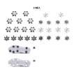 ゴルフクリートチャンプ ソフトスパイク鋲 スパイク スティンガー シューズ 交換用 14個入 黒 白