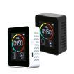 二酸化炭素濃度計 CO2 濃度センサー 二酸化炭素濃度測定器 送料無料 NDIRセンサ USB充電 CO2 温度 湿度をリアルタイム監視 送料無料