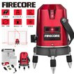 Firecore 5ライン レーザー墨出し器 高輝度 EP-5R 回転レーザー線 レーザーレベル 自動補正 地墨ポイント 360°照射レーザー メーカー1年保証 最安値挑戦