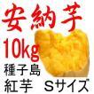 安納芋 Sサイズ 10kg/種子島産 日本一の安さに挑戦中!送料上乗せしても絶対お得。もちろん美味しさも保障します。更にさつまいも粉200g無料進呈中