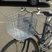 自転車用ラージカゴ(ワイドバスケット) D-51 パールシルバー