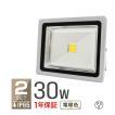 LED投光器 30W 電球色 暖色 3000K 省エネ LEDライト 防水 2個セット