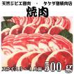 【焼肉用】天然ジビエ イノシシ肉 猪肉 国産 島根 500g(250×2パック) 厚切りスライス 焼肉用