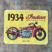 ブリキサイン 1934 Indian 5072-1929 アメリカンレトロ /業務用/送料756円