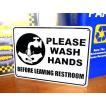 プラスチックサインボード(PLEASE WASH HANDS 手洗い) 看板 インテリア アメリカ雑貨 アメリカン雑貨