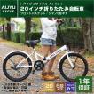 折りたたみ自転車 20インチ AIJYU CYCLE AJ-02 カゴ付き 自転車/折畳み自転車
