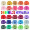 NEWHATTAN ニューハッタン コットン ツイル ローキャップ カラフル 無地 ベースボール メンズ レディース 選べる25色