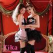 コスプレ 衣装 2点set 水玉 レース コルセット セクシー ピンク ブラック ダンス