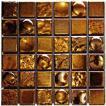 50角 Zipang 壁用 モザイクタイル シート(36粒)販売 メタリック・ゴールド アンティーク調 磁器タイル内壁、(キッチン カウンター・トイレ・リビング)・店