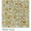 モザイクタイル シート 15角 マーブル 大理石調 磁器質 トラバーチンベージュ。キッチン 壁等のDIYに(324粒)