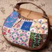 〔一点物〕伝統を紡いだ カッチ刺繍のムーンショルダーバッグ / グジャ レビューでタイカレープレゼント
