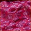 切り売り 計り売り布 生地 〔1m切り売り〕インドの伝統模様布〔幅約117cm〕 レッド×パープル アジア布 手芸 アジアン ファブリック テーブルクロス