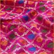 切り売り 計り売り布 生地 〔1m切り売り〕インドの伝統模様布〔幅約110cm〕 マゼンタ アジア布 手芸 アジアン ファブリック テーブルクロス ソファーカバー