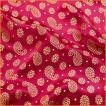切り売り 計り売り布 生地 〔1m切り売り〕インドの伝統模様布〔幅約115cm〕 レッド アジア布 手芸 アジアン ファブリック テーブルクロス