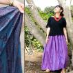 メール便送料無料 ラムナミ スカート ネパール ラムナミフレアースカート