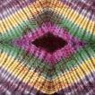サイケデリック 布 ガネーシャ 〔195cm*100cm〕ガネーシャ&ヒンドゥー神様のタイダイサイケデリック布 黒紫×黄×ピンク×緑系 ラムナミ