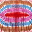 サイケデリック 布 ガネーシャ 〔195cm*100cm〕ガネーシャ&ヒンドゥー神様のタイダイサイケデリック布 赤×紫×青×緑系 ラムナミ