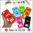 m&m's 立体感 Sony Xperia Z4ケース エクスペリア z4ケース Xperia Z3ケース エムアンドエムズ チョコレート グッズ シリコンケース