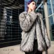 ファーコート レディース 毛皮コート フォクス ロッグコート おしゃれ 上着 暖かい 秋冬 防寒 お洒落 レディースファッション