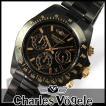 シャルルホーゲル CV-9019-1 クロノグラフつきメンズ腕時計 メタルバンド 時計