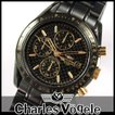 シャルルホーゲル CV-9021-1 クロノグラフつきメンズ腕時計 メタルバンド 時計