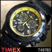 タイメックス TIMEX メンズ 腕時計 T49783 ブラック 革ベルト タイメックス