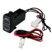 トヨタ車用 温度計 電圧計ポート スイッチパネル 赤/青LED付 12V/24V TOKUTOYO(トクトヨ)