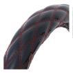 ハンドルカバー 富士ダブルステッチ 【LM】 モコモコ 黒/赤糸