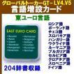 東ユーロ(東ヨーロッパ)言語増設言語カード (グローバルトーカーGT-V4,GT-V5用) V4-GLC-EE12