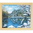 Olympusクロスステッチ刺繍キット7417 「冬の兼六園」 オリムパス 四季を彩る日本の名所