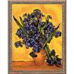 RIOLISクロスステッチ刺繍キット No.1087 「Irises」 after Vincent van Gogh's Painting (アイリス フィンセント・ファン・ゴッホ)