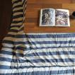 こたつ コタツ ふとん 掛け BORDER インド綿 こたつ布団 長方形 掛け単品 約205×285cm