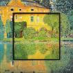 絵画 インテリア アートポスター 壁掛け (額縁 アートフレーム付き) ビッグアート クリムト「シュロスカメル」