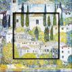 絵画 インテリア アートポスター 壁掛け (額縁 アートフレーム付き) ビッグアート クリムト「カーソネスガルダチャーチ」