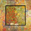 絵画 インテリア アートポスター 壁掛け (額縁 アートフレーム付き) ビッグアート クリムト「サンフラワー」