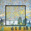 絵画 インテリア アートポスター 壁掛け (額縁 アートフレーム付き) ビッグアート クリムト「マウンテンスロープ」