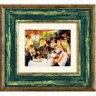 絵画 インテリア アートポスター 壁掛け (額縁 アートフレーム付き)付 ルノワール「舟遊びの昼食」