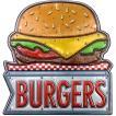 アメリカテイスト雑貨 ハンバーガー 音感センサー付きLEDライト アメリカンサイン おしゃれな間接照明 メーカー直販