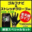 【選べる2色】ユピテルゴルフナビ AGN-A100&ストレッチグローブ《ブラックorホワイト》ゴルフ用品お買い得セット