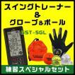 【色が選べる!4点セット】スイングトレーナー GST-5GL&グローブ&ゴルフボール&ゴルフティー ゴルフ用品お買い得セット
